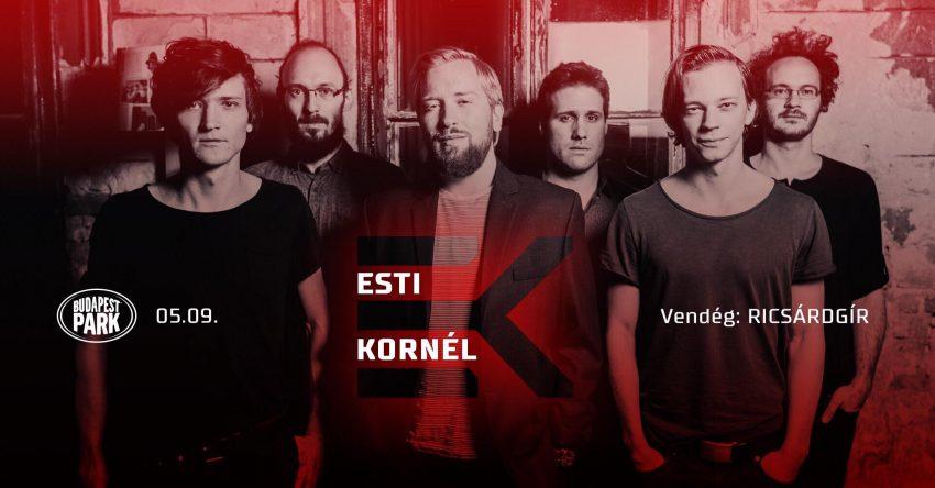 Az Esti Kornél a Budapest Parkban ad koncertet