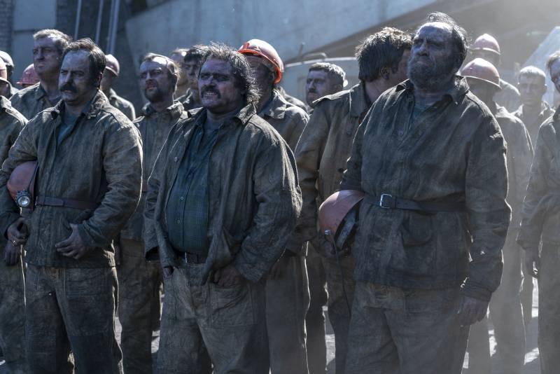 Bányászok a HBO Csernobil sorozatában