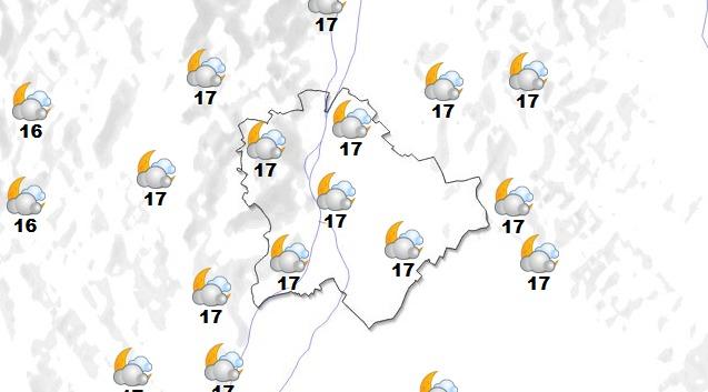 Budapesti időjárás pénteken