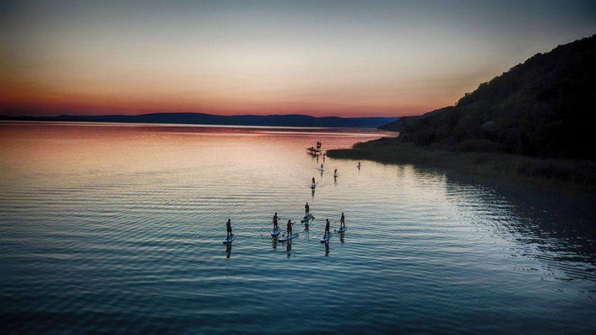 Egy kis SUP túra Balatonfüred szomszédságában kiváló program lehet