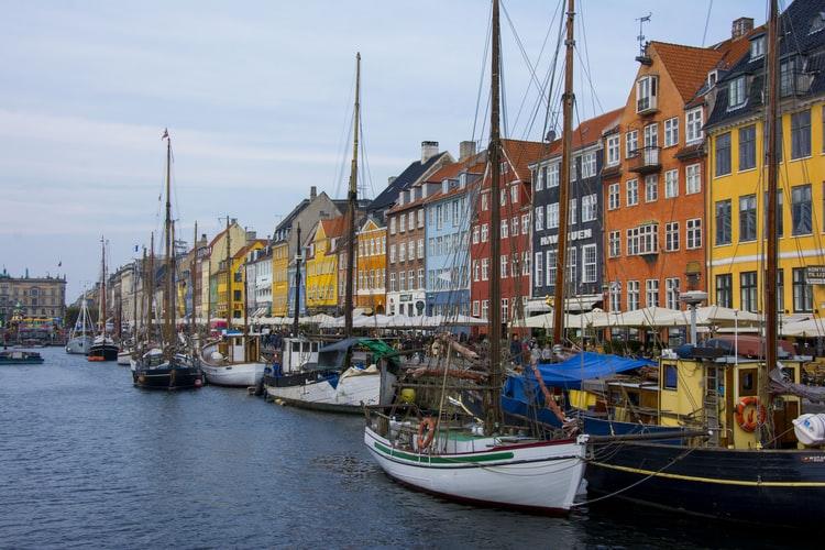 Az új kikötő Koppenhága egyik leghíresebb része