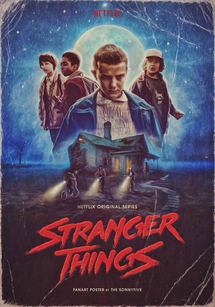 Stranger Things plakát az első évadhoz