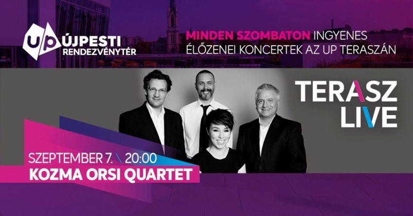 KOZMA ORSI QUARTET-Terasz LIVE! Ingyenes koncert