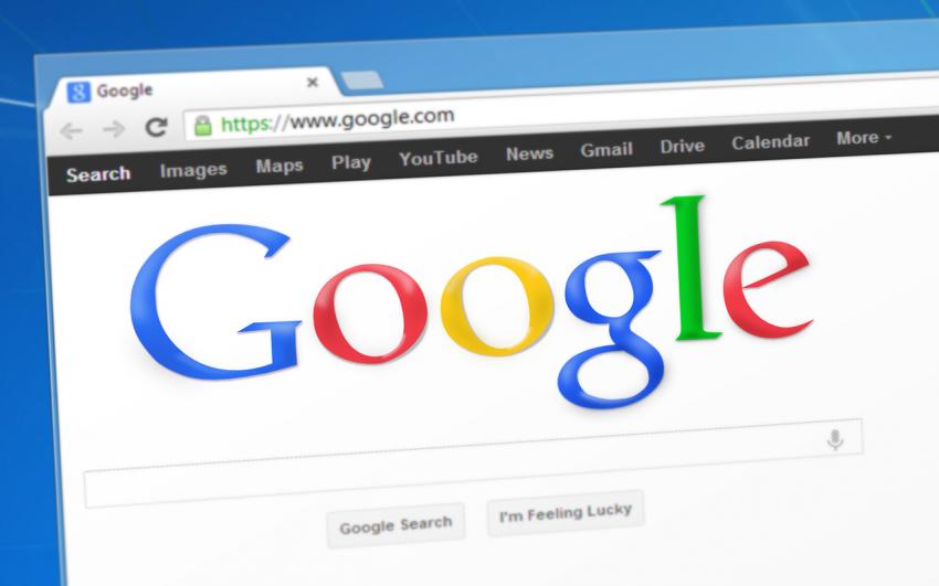 A Google kezdőoldala