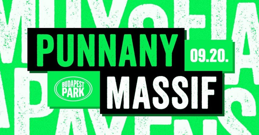 Szezonzárás szeptember 20-án a Punnany Massiffal a Budpaest Parkban