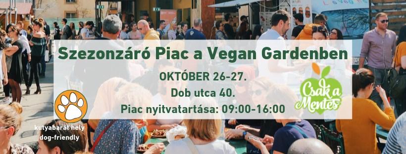 Szezonzáró Vegán Piac a Vegan Gardenben