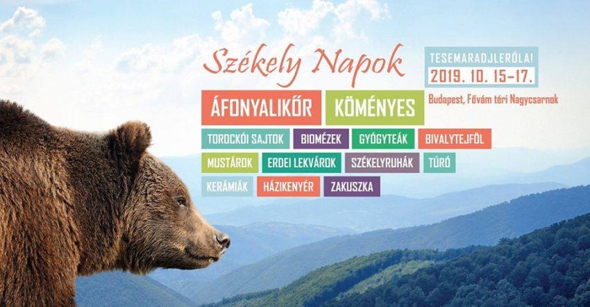 Hétvégi programok Budapesten: Székely Napok 2019 (október 15-17.)