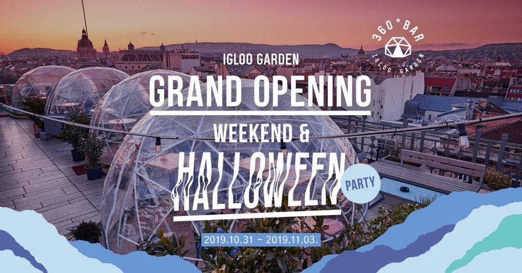 Vasárnapi programok (November 3.): 360 Igloo Garden: Grand Opening Weekend
