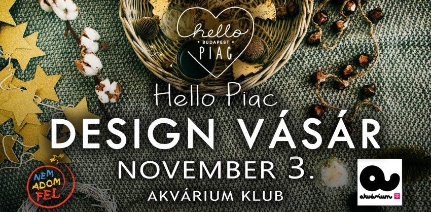 Ingyenes program novemberre: Hello Piac Design Vásár