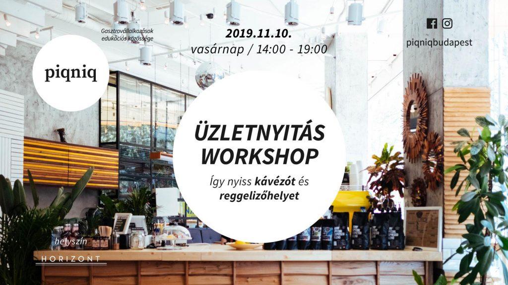 Üzletnyitásworkshop - így nyiss kávézót vagy reggelizőhelyet