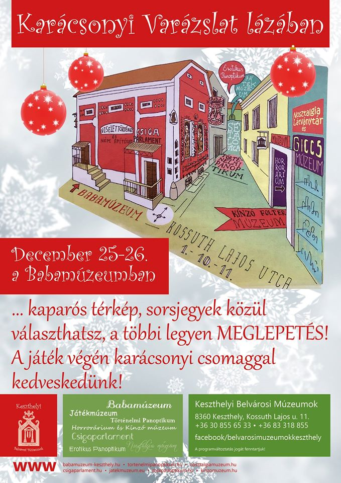 Karácsonyi program Balatonnál a keszthelyi Babamúzemban