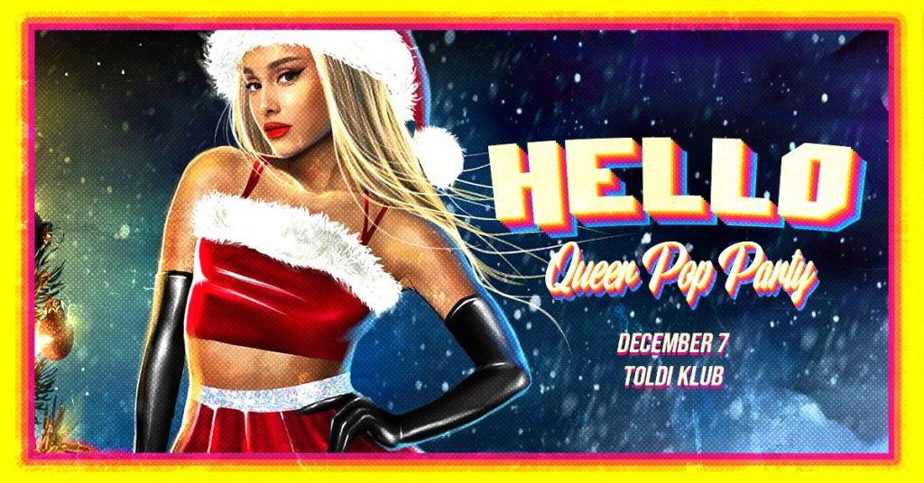 Szombati programok: HELLO - Queer Pop Party // Toldi Klub