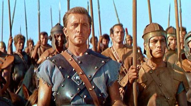 Kirk Douglas 60 évvel ezelőtt a Spartacus című film főszereplőjeként