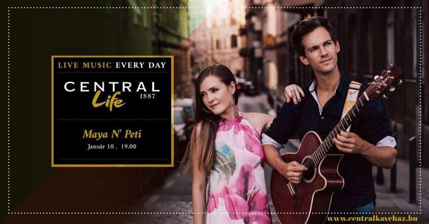 Pénteki programok (január 10.): Maya 'n' Peti Acoustic Duo - Central Life