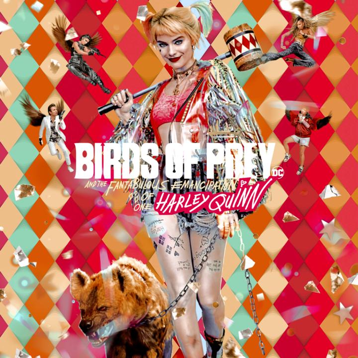 Margot Robbie a Birds of Prey, azaz a Ragadozó madarak egyik plakátján