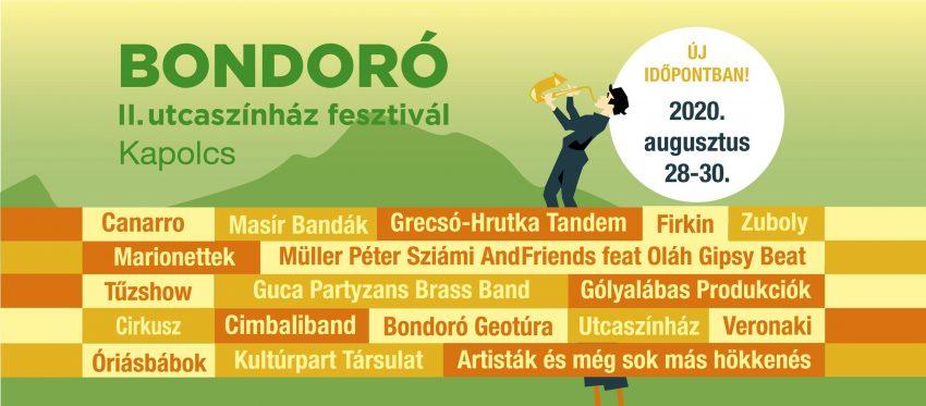 Balatoni fesztiválok 2020 augusztus: Bondoró