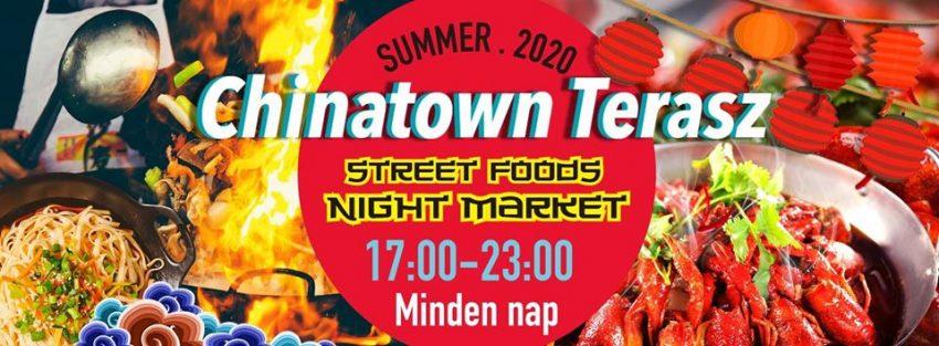 Budapesti programok 2020 augusztus: Chinatown Terasz