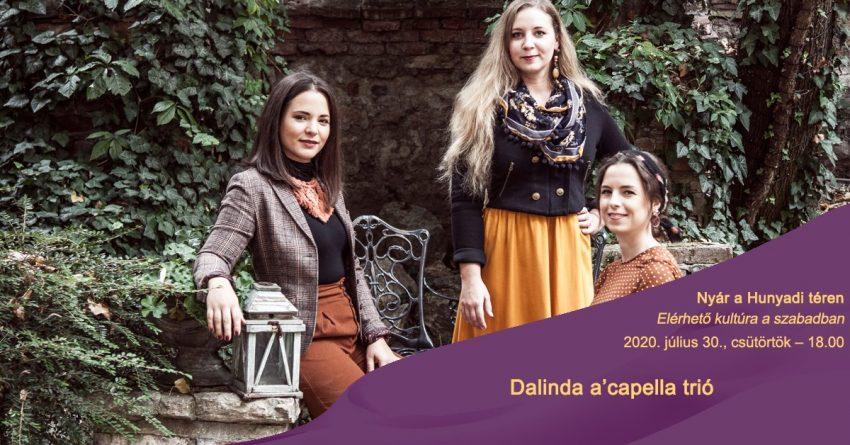Hétvégi programok Budapesten: Nyár a Hunyadi téren: a Dalinda a'capella trió