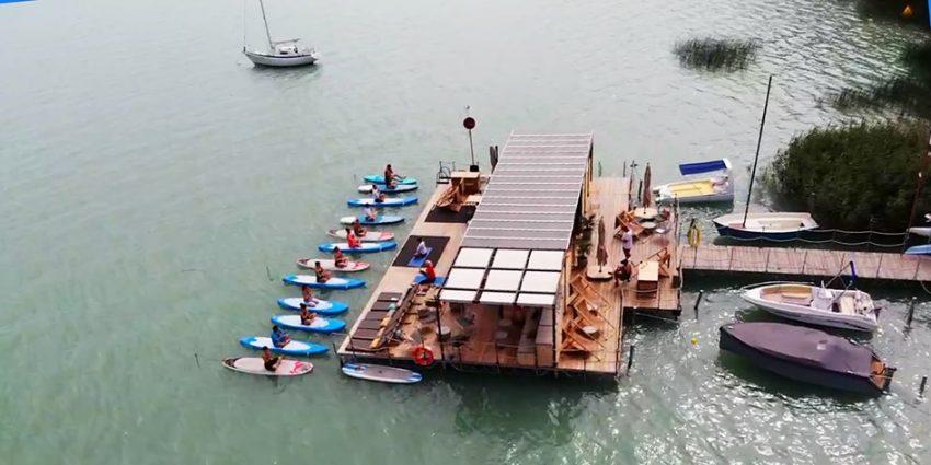 Balaton északi part programok: SUP Jóga Brunch