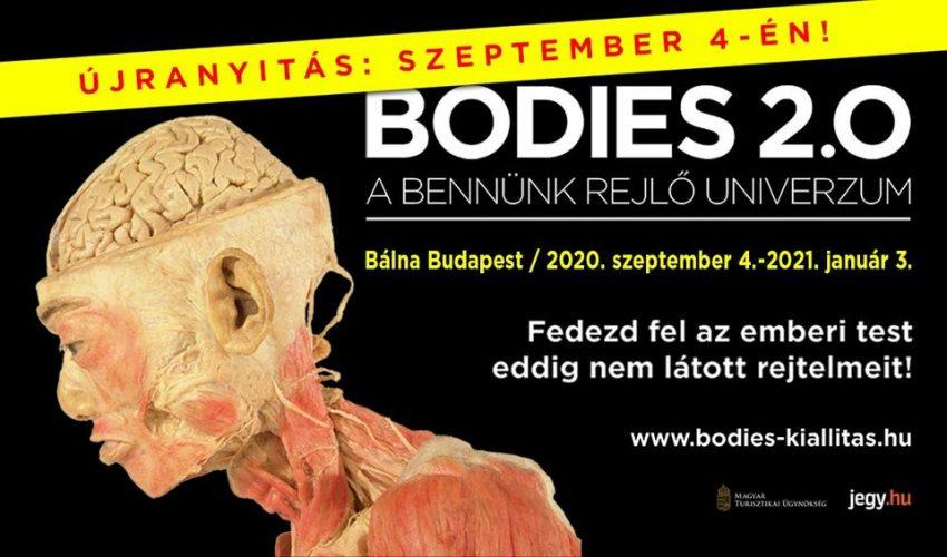 Kiállítások Budapest 2020 szeptember: Bodies kiállítás