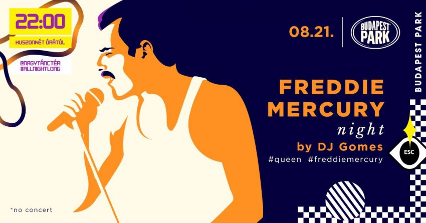Programok augusztus 20: Mercury Night - Budapest Park