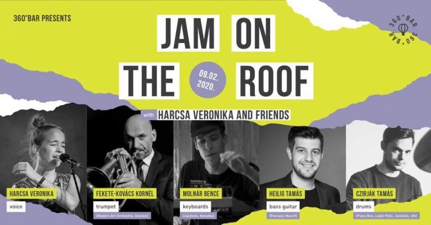 Programok Budapest szeptember 2020: 360 Bar presents: Jam on the Roof - Harcsa Veronika Experiment (2020. szeptember 2.)