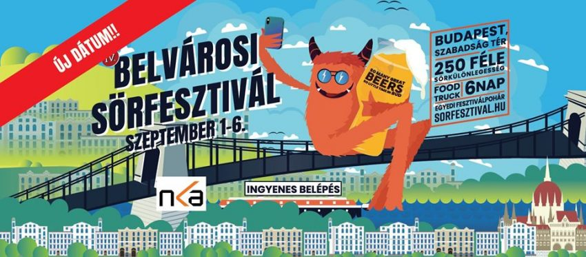 Programok Budapest 2020 szeptember: Belvárosi Sörfesztivál I Szabadság tér (2020. szeptember 1-6.)