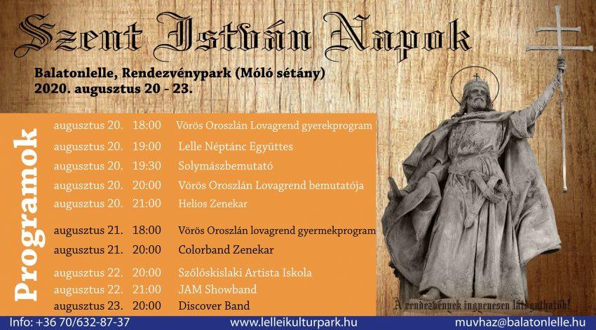 Augusztus 20-i programok Balatonlellén: Szent István Napok