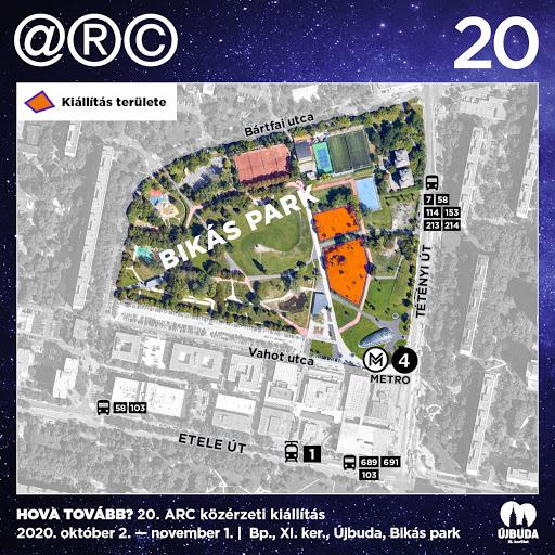 ARC kiállítás a Bikás parkban (térkép)