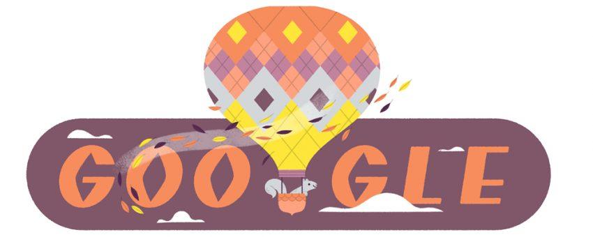 A Google ezzel a logóval ünnepli az őszi évszakot