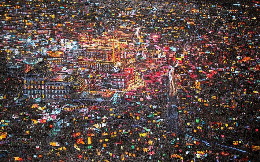 Baranyai Levente: Black Tibet, 2019-20, olaj, vászon