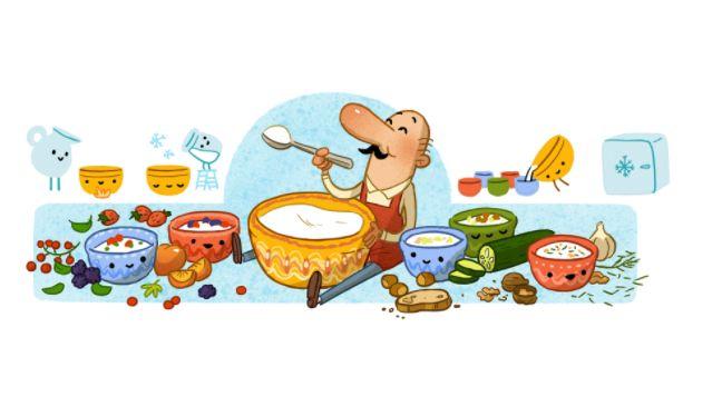 Sztamen Grigorov a Google nyitóoldalán