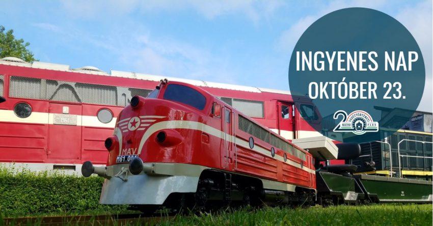 Ingyenes családi program október 23-án a Magyar Vasúttörténeti Parkban