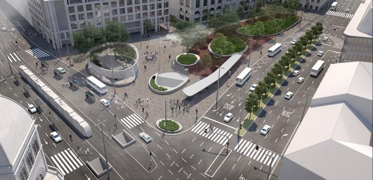 Így fog kinézni a megújult Blaha Lujza tér