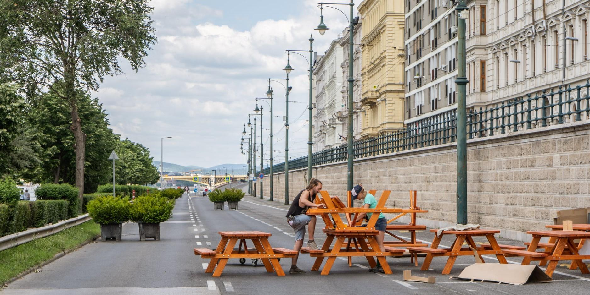 Két hónapra pihenőparttá alakul a pesti alsó rakpart belvárosi szakasza