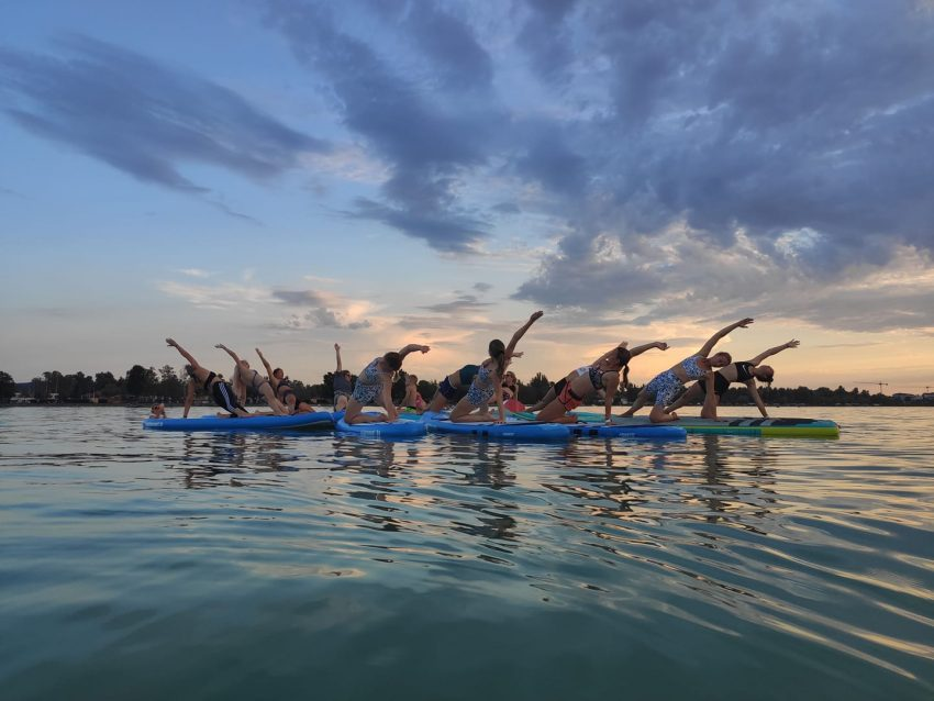 Balatoni programok: SUPlementés jóga (2021. augusztus 28., Zamárdi)